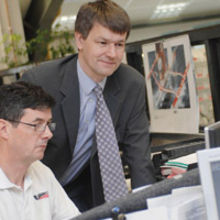 Charles Maltby, technical and commercial Director at Shearline (right)