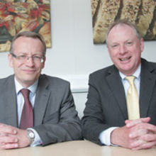 Ian Bath of RBS Invoice Finance and Alan Ridealgh, managing director of Muntons