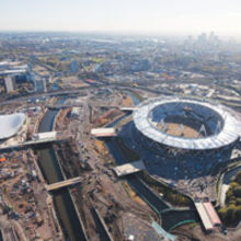 The Olympic Stadium at Stratford in London