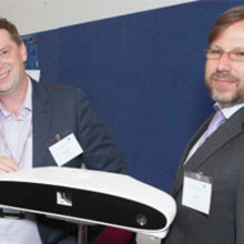 PneumaCare CMO Dr Richard Iles (left) and CEO, Dr Ward Hills with PneumaScan