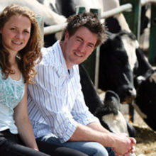 Jodie Farran with Andrew Howie
