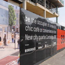 Almost 400 metres of hoardings were completed within a week to protect the 26-acre CB1 site