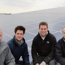 Left to right – John Laud (Barclays), Toby Bartlett (Factory Director at Alan Bartlett), Ollie Bartlett (Farm Director at Alan Bartlett) and Andrew Foster (Finance Director at Alan Bartlett)