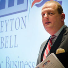 Chris Parkhouse speaking at the Deyton Bell Transatlantic Business Forum. Photographs by Alan Bennett/ Media Imaging Solutions