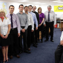 Paul Chisnall, general manager of TED and the team that will be based at its national HQ in Norwich.