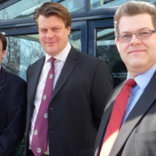 UltraSoc co-founders, from left to right, chief technical officer Dr Andrew Hopkins, chief executive Dr Karl Heeks and chief scientist Professor Klaus McDonald-Maier