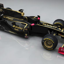 The new Lotus Renault GP car