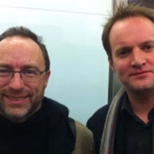 Wikipedia co-founder Jimmy Wales with CambridgeElevator CEO, Richard Kirkby