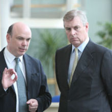 Mike Lynch (left) with the Duke of York