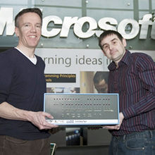 Ken Wood - deputy managing director, Microsoft Research with Jason Fitzpatrick - Centre for Computing History