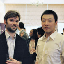 eComm's Dr Michael Crisp (left) and Tongyun Li