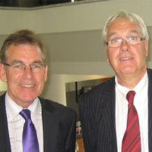 Les Wright and Paul Peachey, the original Directors who started up Falcon Promotions in 1987