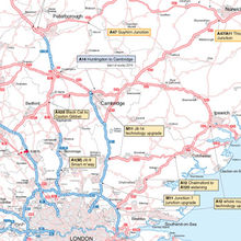 Drilling down to detail on £2 billion of government investment on roads across Cambridge and the East of England