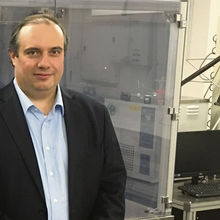 Photograph by Francis Sedgemore shows Professor Andrea Ferrari, director of the Cambridge Graphene Centre