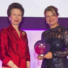 HRH The Princess Royal with Clare Bye of AVEVA