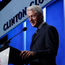 Bill Clinton of the Clinton Global Initiative (CGI) at the 2013 Hult Prize final