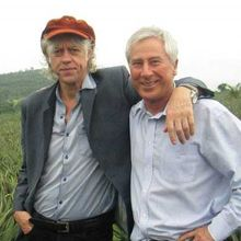 Sir Bob Geldof with Blue Skies founder Anthony Pile