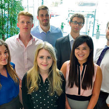 Some of the new trainees at Grant Thornton, Cambridge