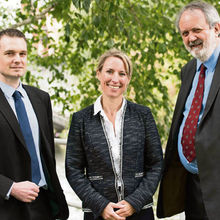 James Daynes, Catherine Scott and Jonathan Wortley of Howes Percival