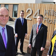 Howes Percivall which expanded its property team  earlier this year (left to right): Jonathan Greenhalgh, Daniel Thomas, Will Stokes, Helen Stewart.