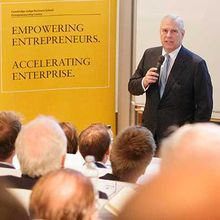 HRH Duke of York at Cambridge Judge Business School
