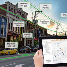 IQGeo iPad city scene utilities