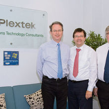 Tim Jackson, Colin Smithers and Ian Murphy of Plextek