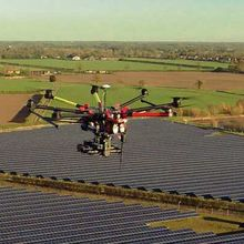 Above Surveying solar farm drone