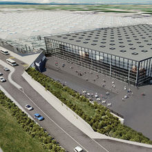 London Stansted Airport Arrivals building cgi