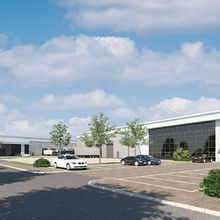 CGI of a possible distribution warehouse at Suffolk Park