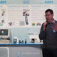 Mike Muller, CTO ARM (and one of the original 12 founding engineers) opens the CCH Exhibition