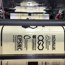 Graphene ink being roll-to-roll printed. Credit: Tawfique Hasan
