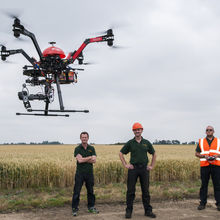 """A drone being flown by Skyview Robotics: """"the sensor can detect subtle differences in the canopy colour"""" (image copyright Al Pulford/Skyview Robotics)"""