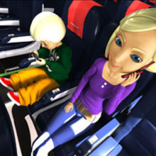 A frame from the Norwegian animated safety demo produced by Skyline IFE